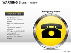 Emergency Warning Signs PowerPoint Slides And Ppt Diagram Templates