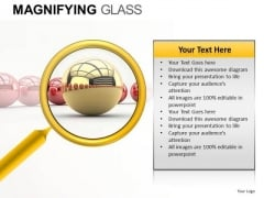 Emphasize Hidden Point Magnifying Glass PowerPoint Templates Main Point Ppt Slides