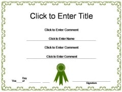 Employee Recognition Certificate PowerPoint Templates