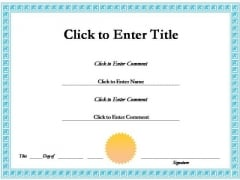 Employee Success Certificate PowerPoint Templates
