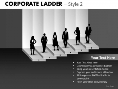 Employee Success Corporate Ladder PowerPoint Ppt Templates