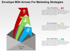 Envelops With Arrows For Marketing Strategies PowerPoint Templates