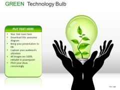Environmental Green Technology Bulb PowerPoint Slides And Ppt Diagram Templates