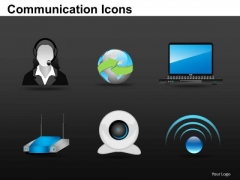 Equipment Communication Icons PowerPoint Slides And Ppt Diagram Templates
