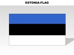 Estonia Country PowerPoint Flags