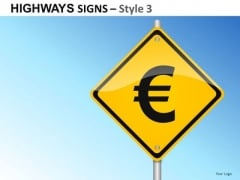 Euro Signs 3 PowerPoint Slides And Ppt Diagram Templates
