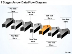 Example Of Parallel Processing 7 Stages Arrow Data Flow Diagram PowerPoint Slides