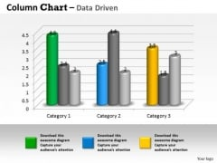 Examples Of Data Analysis Market 3d Business Trend Series Chart PowerPoint Templates