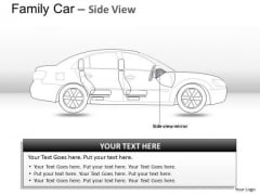 Exhibition Blue Family Car Side View PowerPoint Slides And Ppt Diagram Templates
