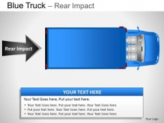 Exhibition Blue Truck Top View PowerPoint Slides And Ppt Diagram Templates