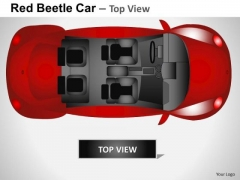 Expensive Red Beetle Car PowerPoint Slides And Ppt Diagram Templates