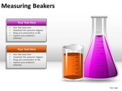 Experimenting Measuring Beakers PowerPoint Slides And Ppt Diagram Templates