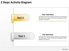 Explain Parallel Processing 2 Steps Activuty Diagram PowerPoint Templates