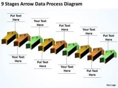 Explain Parallel Processing 9 Stages Arrow Data Diagram PowerPoint Slides