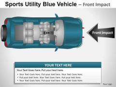 Exterior Sports Utility Blue Vehicle PowerPoint Slides And Ppt Diagram Templates
