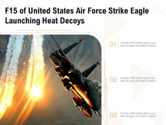 F15 Of United States Air Force Strike Eagle Launching Heat Decoys Ppt PowerPoint Presentation Gallery Graphics Tutorials PDF
