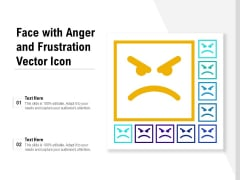Face With Anger And Frustration Vector Icon Ppt PowerPoint Presentation Professional Layout PDF