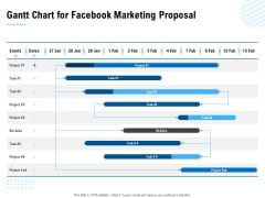 Facebook Ad Management Gantt Chart For Facebook Marketing Proposal Ppt Summary Icons PDF
