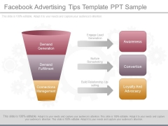 Facebook Advertising Tips Template Ppt Sample