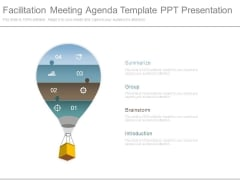 Facilitation Meeting Agenda Template Ppt Presentation