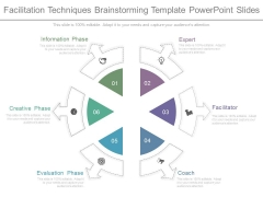 Facilitation Techniques Brainstorming Template Powerpoint Slides