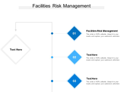 Facilities Risk Management Ppt PowerPoint Presentation Professional Cpb