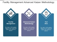 Facility Management Advanced Kaizen Methodology Ppt PowerPoint Presentation Summary Examples