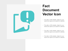 Fact Document Vector Icon Ppt PowerPoint Presentation Slides Professional