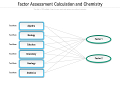 Factor Assessment Calculation And Chemistry Ppt PowerPoint Presentation File Graphics Download PDF