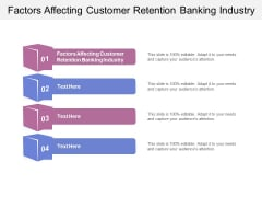 Factors Affecting Customer Retention Banking Industry Ppt PowerPoint Presentation Slides Samples Cpb