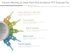 Factors Affecting On Steel Plant Risk Avoidance Ppt Example File