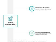 Factors Affecting Sales Ppt PowerPoint Presentation Ideas Templates
