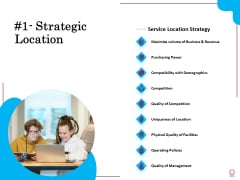 Factors Feasible Competitive Advancement Strategic Location Ppt Layouts Picture PDF