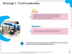 Factors Feasible Competitive Advancement Strategy 1 Cost Leadership Ppt Gallery Graphics PDF