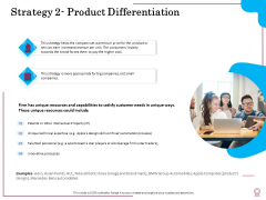 Factors Feasible Competitive Advancement Strategy 2 Product Differentiation Ppt Pictures Templates PDF