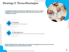 Factors Feasible Competitive Advancement Strategy 3 Focus Strategies Ppt Pictures PDF