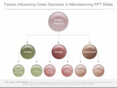 Factors Influencing Green Decisions In Manufacturing Ppt Slides