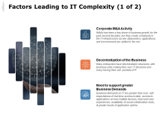 Factors Leading To IT Complexity Business Demands Ppt PowerPoint Presentation Model Picture
