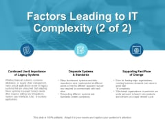 Factors Leading To IT Complexity Importance Ppt PowerPoint Presentation Visual Aids Example File