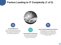 Factors Leading To It Complexity Business Demands Ppt PowerPoint Presentation Infographics Styles