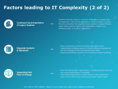Factors Leading To It Complexity Planning Ppt PowerPoint Presentation Infographics Rules