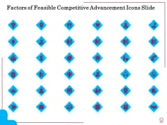 Factors Of Feasible Competitive Advancement Icons Slide Ppt Slides Inspiration PDF