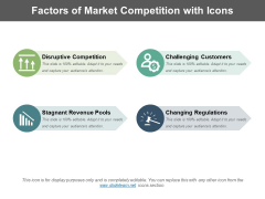 Factors Of Market Competition With Icons Ppt PowerPoint Presentation Icon Backgrounds PDF