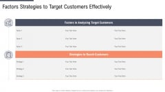Factors Strategies To Target Customers Effectively Download PDF