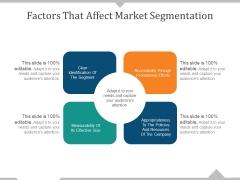Factors That Affect Market Segmentation Ppt PowerPoint Presentation Designs