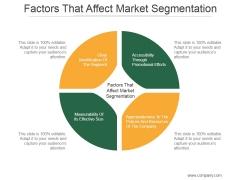 Factors That Affect Market Segmentation Ppt PowerPoint Presentation Graphics