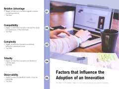 Factors That Influence The Adoption Of An Innovation Ppt PowerPoint Presentation Layouts Microsoft PDF