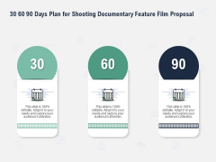Factual Picture Filming 30 60 90 Days Plan For Shooting Documentary Feature Film Proposal Sample PDF