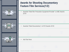 Factual Picture Filming Awards For Shooting Documentary Feature Film Services Equipment Introduction PDF
