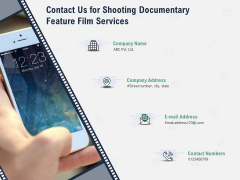 Factual Picture Filming Contact Us For Shooting Documentary Feature Film Services Brochure PDF